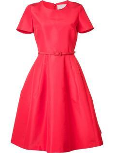 расклешенное платье с поясом Carolina Herrera
