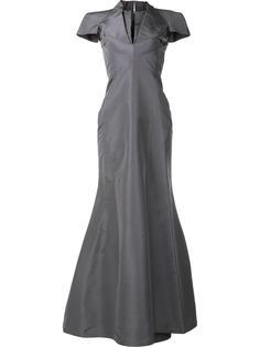 вечернее платье с V-образным вырезом Zac Posen