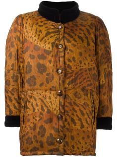 пальто-пуховик с анималистическим узором Yves Saint Laurent Vintage