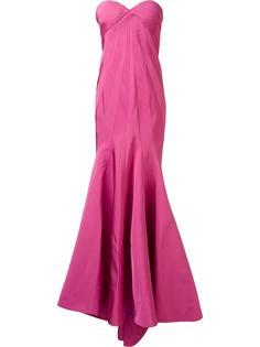 вечернее платье без бретелек Zac Posen
