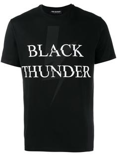 футболка с принтом 'Black Thunder' Neil Barrett