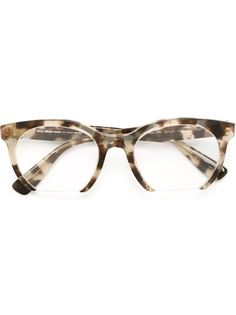 солнцезащитные очки в овальной оправе Miu Miu Eyewear