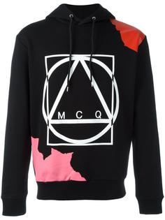 abstract glyph icon print hoodie McQ Alexander McQueen