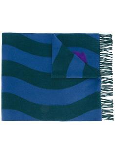 шарф с волнистым принтом и бахромой Fendi