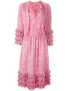 платье миди с цветочным узором Céline Vintage