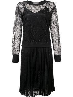 плиссированное платье с кружевной панелью Loyd/Ford