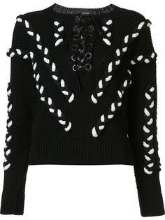 lace up cable jumper Yigal Azrouel