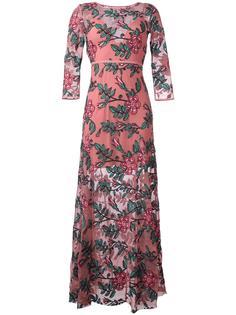 длинное платье с цветочной вышивкой For Love And Lemons