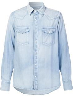 джинсовая рубашка с заплатками на рукавах Visvim