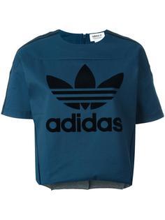 укороченная футболка с принтом логотипа Adidas Originals
