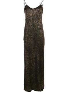 длинное металлизированное платье Rta