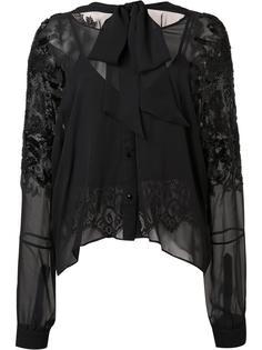 прозрачная блузка с декорированными рукавами Loyd/Ford
