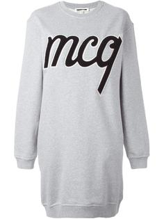 платье-толстовка с логотипом McQ Alexander McQueen