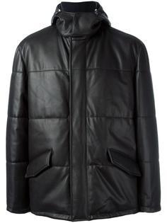 пальто из кожи ягненка Kiton