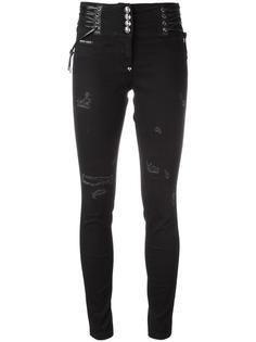 укороченные джинсы скинни Philipp Plein