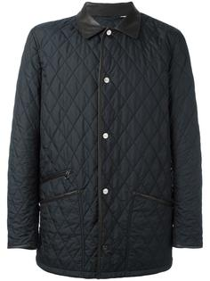 куртка-пуховик с контрастным воротником Salvatore Ferragamo