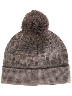 трикотажная шапка с помпоном Fendi