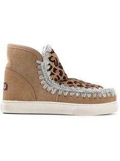 зимние ботинки с леопардовым принтом 'Eskimo'  Mou