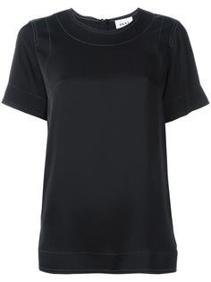 футболка с декоративной строчкой DKNY