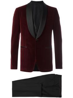 костюм-тройка с пиджаком смокинг Salvatore Ferragamo