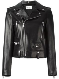 байкерская куртка с вышивкой 'Love' Saint Laurent