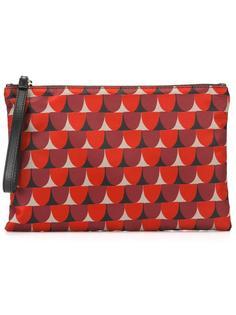 клатч с геометрическим принтом Red Valentino