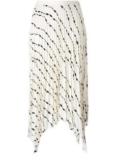 плиссированная юбка с узором Helmut Lang
