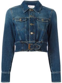укороченная джинсовая куртка Red Valentino