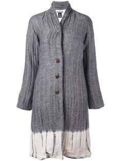 пальто в стиле тай-дай с узором елочкой Suzusan