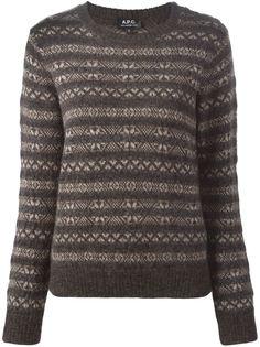 свитер с узором в технике интарсия A.P.C.