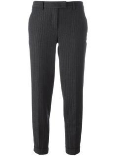 полосатые укороченные брюки Alberto Biani