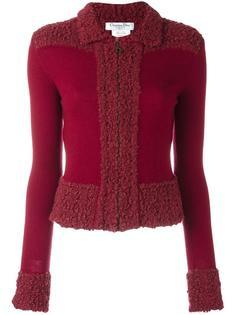 трикотажный пиджак букле  Christian Dior Vintage