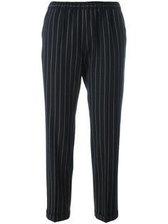 укороченные брюки в узкую полоску Alberto Biani