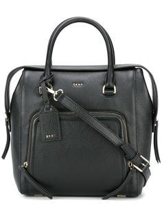 сумка с карманом на молнии DKNY