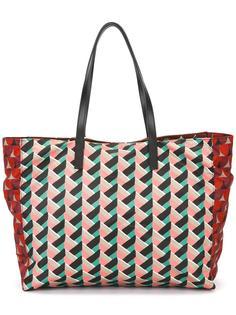 сумка-тоут с геометрическим узором Red Valentino