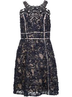 embroidered flower dress Marchesa Notte