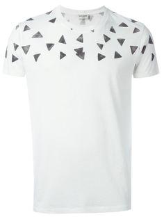 футболка с принтом треугольников Saint Laurent