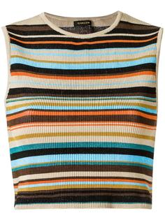 striped crop top Osklen