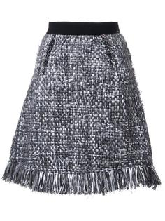 твидовая юбка с бахромой Lalo