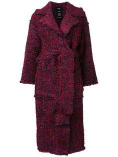 твидовое пальто с поясом Lalo