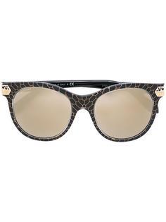 солнцезащитные очки с эффектом змеиной кожи Bulgari