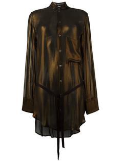 блузка с эффектом металлик Ann Demeulemeester