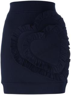 короткая прямая юбка Love Moschino