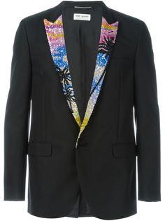 пиджак с пайетками на лацканах Saint Laurent