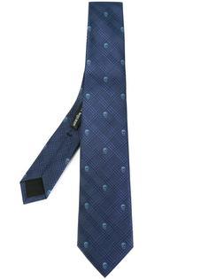 тканый галстук с черепами Alexander McQueen