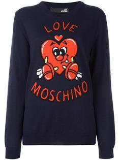 джемпер с сердцем Love Moschino
