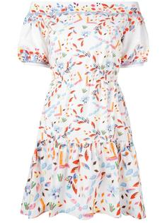 off-the-shoulder tiered dress Peter Pilotto