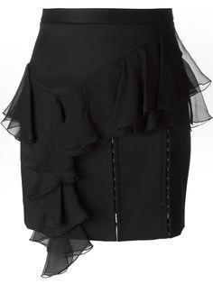 юбка с отделкой в виде крючков и петель Balmain