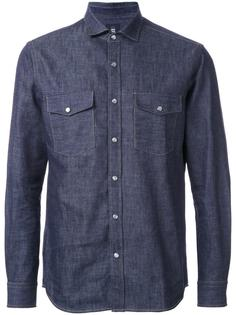 джинсовая рубашка с нагрудными карманами Kent & Curwen