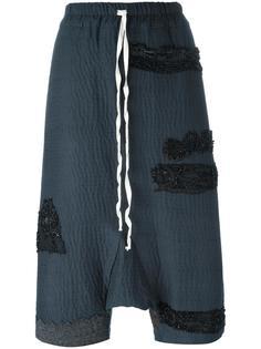 укороченные брюки с заниженной шаговой линией By Walid